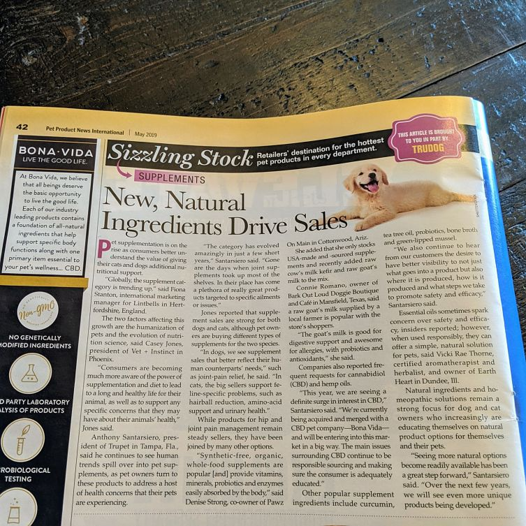 Pet Product News Article Featuring Casey Jones
